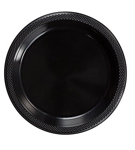 Exquisite Plastic Dessert/Salad Plates - Solid Color Disposable