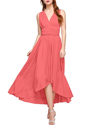 9e6a6430076 Women s Transformer Infinity Hi-Low Dress Multi-Way Wrap Convertible Maxi  Dress