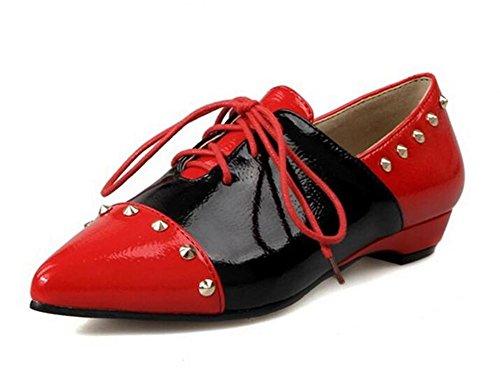 de Mujer para RED 39 Alto Tacón 36 Zapatos XIE z5qUwAWfU