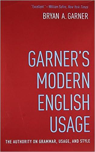 Garner S Modern English Usage 9780190491482