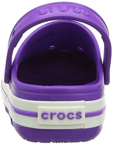 crocs Unisex-Kinder Crocslights Clog Ps Pink (Neon Purple/White)