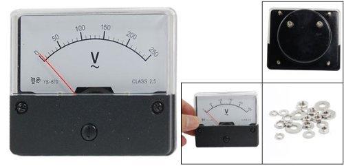 eDealMax YS-670 rettangolo analogico Volt Panel Meter Gauge, 250V AC