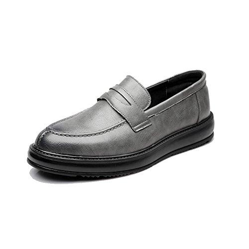 lavoro Colore da Scarpe PU EU Outsole dimensione Nero 42 pelle basse Oxford in da Casual formali stringate 2018 Gray Slip uomo Xujw Classic Mocassini shoes on Scarpe nYw1qY0E