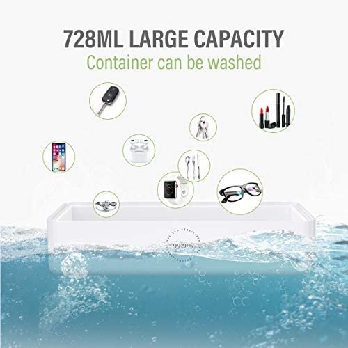 WONSIDAY Wireless Charger Sanitizer,15W Fast Wireless Charger Cell Phone Sterilizer Box Mulfunction Aromatherapy Function Cleaner Charger for Phone Airpods Toothbrush Watches Glasses
