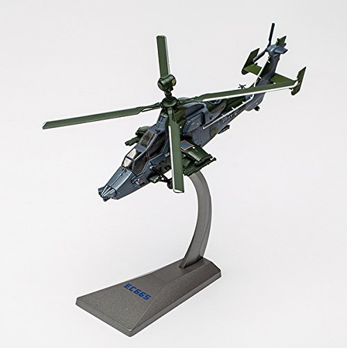 AF1 Eurocopter 665 Tiger Diecast Display Model Helicopter 1/72 Scale with Metal Display Stand ()