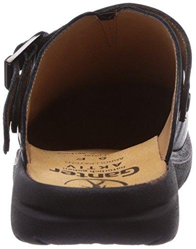 Ganter AKTIV Fabia, Weite F 3-202337-01000 - Zuecos de cuero para mujer, color negro, talla 39