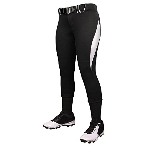 CHAMPRO Surge Traditional Style Low Rise Pant Black, White Women's M BP28 ()