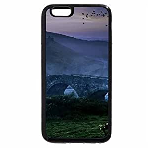iPhone 6S / iPhone 6 Case (Black) ancient bridge over a river in the mist