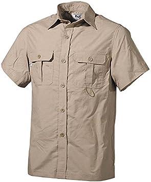 TUCUMAN AVENTURA - Camisa Outdoor m/Corta (L, Beige): Amazon.es: Deportes y aire libre