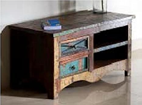 GELUSA Mueble para Televisor o Mesa para Television Vintage Muebles Antiguos Envejecido