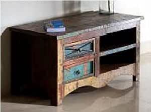GELUSA Mueble para Televisor o Mesa para Television Vintage Muebles Antiguos Envejecido: Amazon.es: Hogar