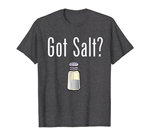 Mens Got Salt? T-shirt 2XL Dark Heather -
