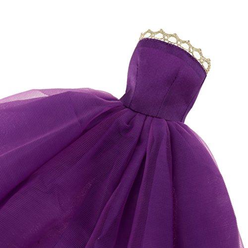 Fenteer Cadeau de pour Marie Violet Robe Poupe Vtements d'anniversaire Soire l No Robe Barbie Bleu de 7xqrIU7