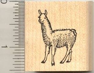 Tiny Llama Rubber Stamp