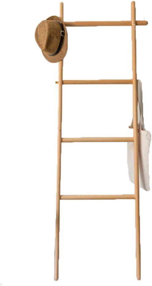 LTJTVFXQ-coat rack Escalera de Madera Perchero Perchero de Pared a Techo Práctico Escalera (Color : Beech): Amazon.es: Hogar