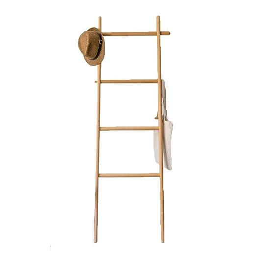 LTJTVFXQ-coat rack Escalera de Madera Perchero Perchero de ...