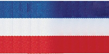 Tri-Stripe Ribbon 5/8'' 3 Yards-Red, White & Blue Tri-Stripe Ribbon 5/8'' 3 Yards-Red, White & ()