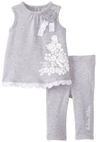 Calvin Klein Baby-Girls Newborn Tunic with Leggings