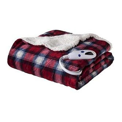 Biddeford 4481-9062125-314 Micro Mink Sherpa Heated Throw Bl