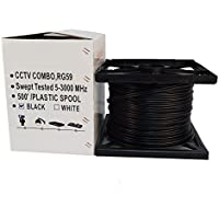 Five Star Cable UL Litsted RG59 Siamese 500 ft. Coaxial CCTV Cable - Combo 20 AWG Solid Copper RG59 + 18/2 18AWG Power