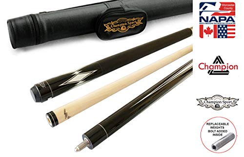 Gator Champion RT1 Retired Pool Cue Stick, 60 inch Long, 5/6x18 Joint, Same Taper as Predator 314 Shaft, Bonus Gift (Black Case, 21oz)