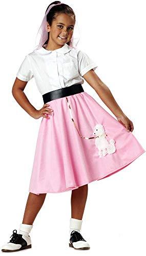 Child Girls 50'S Poodle Skirt Halloween Costume]()