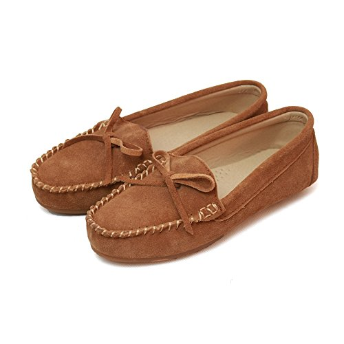Eastern Counties Leather Womens/Ladies Suede Moccasins Chestnut kdnrlH