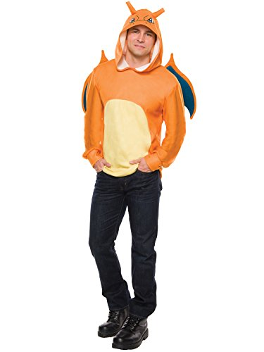 Rubie's Men's Pokemon Charizard Hoodie, Multi,