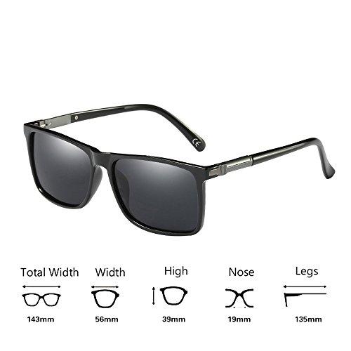 Soleil Lens Protection BVAGSS 1 Lunettes Black Gray Hommes UV400 Polarisées De Design Modernes Frame wF1qIFg