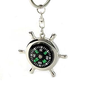 Ularma Portable Legierung Silber Nautischer Kompass Keychain...