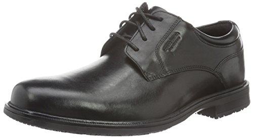 Rockport Essential Details II Plain Toe, Scarpe Stringate Uomo Black (Black Leather)