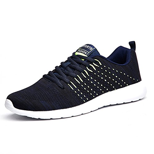 AFFINEST Sport Shoes Men's Women's Sneakers Breathable Mesh Light Weight Summer Walking Running Outdoor Trainers blue-lowtop