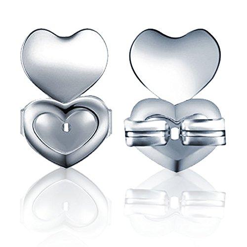 Hypoallergenic Earring Lifts, Earrings Back Ear Stud Nut Lifters Copper Lobe Support 1 Pair/Set(Silver)