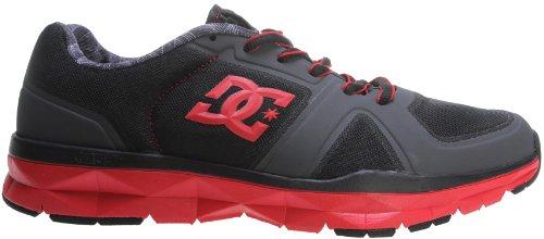 DC Men's Unilite Trainer TC Fashion Sneaker,Red/Dark Grey,9 M US