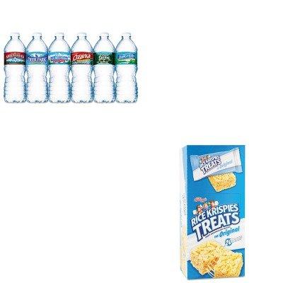kitkeb26547nle101243-value-kit-kelloggs-rice-krispies-treats-keb26547-and-nestle-bottled-spring-wate