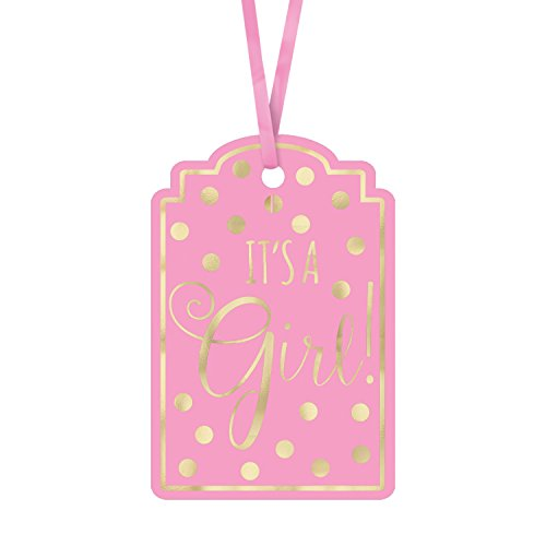 Baby Shower Stamp - Amscan Baby Shower Foil Stamp Tags, Pink