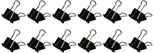 Binder Clips Medium Black Silver product image