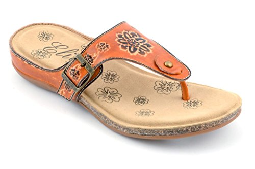 Sandals Thong Flops clUdzTLyd9 St Footwear Flip Corkys Women's Leather Amber 8 Elite Hxv7qUxXw
