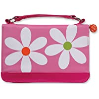 Microfiber Daisy Pink Zipper Pocket Med Book and Bible Cover