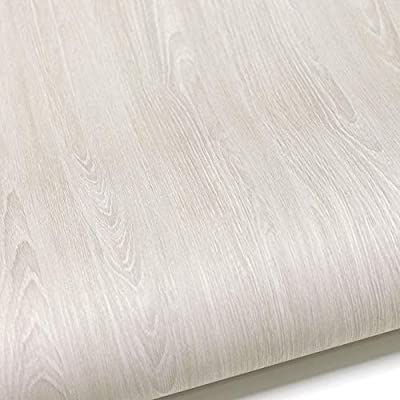 """Premium sterile Vinyl Flooring Sheet Home Decoration Wallpaper Sticker 24""""X 118"""" Multi-Usage Self-Adhesive Contact Paper Film Peel and Stick Removable Waterproof White Oak Wood"""