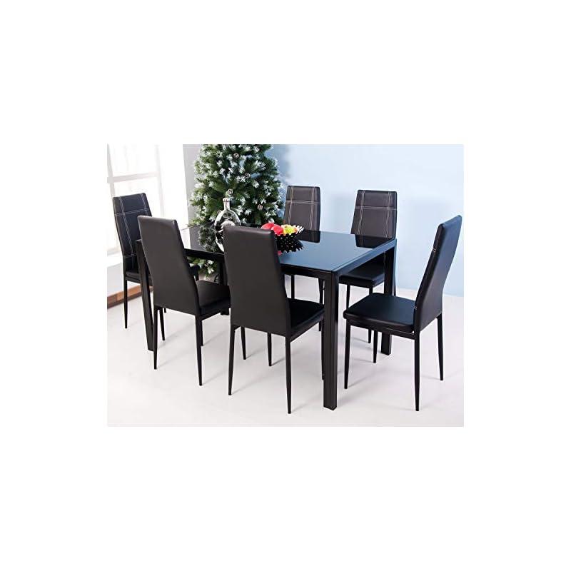 merax-7-piece-glass-top-dining-set