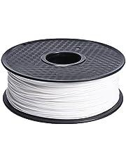 KINGPRINT 3D Printer Filament 1kg Spool1.75mm PLA Total of 7 Different Colors (White)