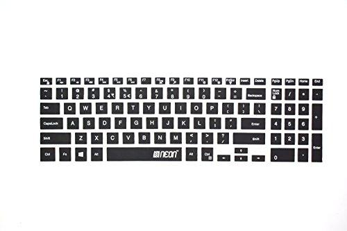 Neon Keyboard Skin for Dell Inspiron 5570 15.6 inch Laptop  Black