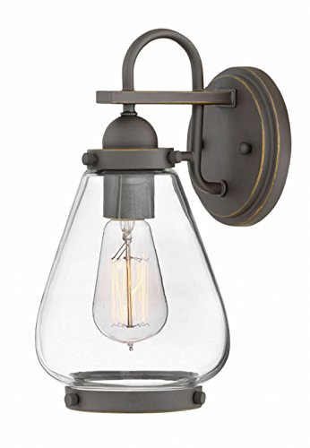 Hinkley 2510OZ Finley Outdoor Wall Sconce, 1-Light, 100 Watts, Oil Rubbed Bronze ()