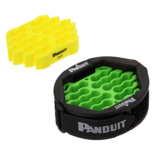 Panduit CBOT24K Cable Organizing Kit, Tool Kit Includes: Jacket Cover, Hook and Loop Fastener, Green Cable Organizing Insert, Yellow Cable Organizing ()