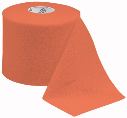 Mueller MWrap Pre-taping foam underwrap - 48 Rolls/Case - Big Orange by mueller