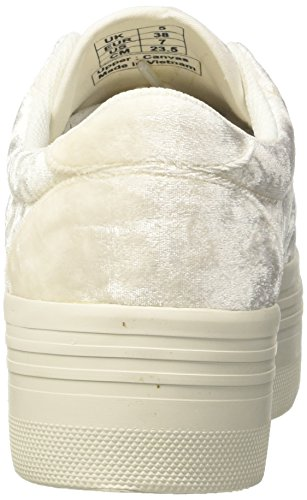 Low Jeffrey Campbell Sole White White Velvet top Damen Jcpzomgvelvet Weiß rqrPaTtw