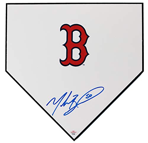 (Mookie Betts Boston Red Sox Autographed Signed Baseball Home Plate PAAS COA )