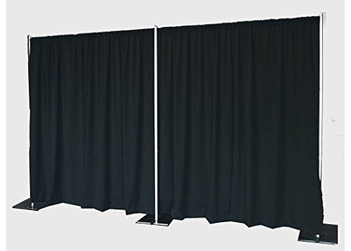 AK-Trading 8ft x 5ft Polyester Fabric Backdrop Background Drapes for Pipe and Drape - Black