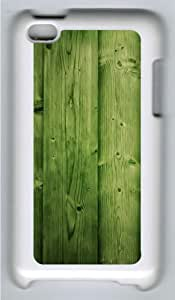 Apple iPod 4 Case and Cover - Green wood Custom Design Polycarbonate Hard Hard Plastic Case for iPod 4/ iPod 4th- White